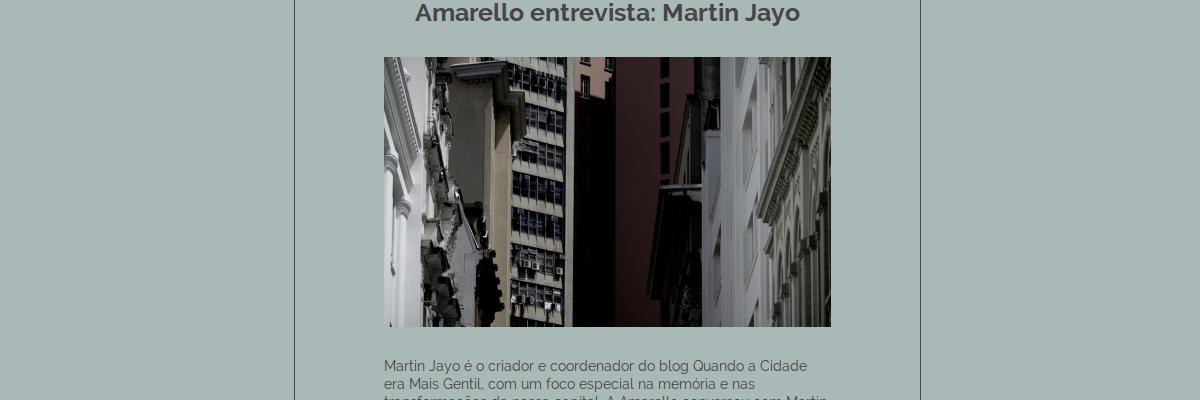 Amarello entrevista Martin Jayo